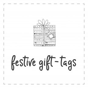 6-pack Festive Gift Tags