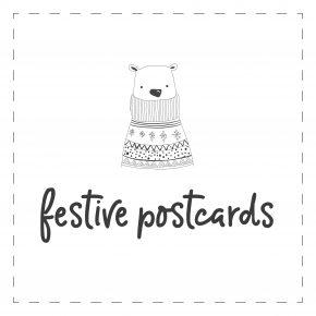 6-pack Festive Postcards