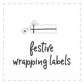 Festive Wrapping labels