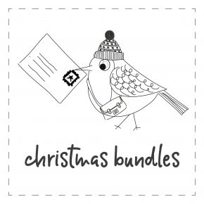 Christmas bundles - Five printed cards (assorted designs), supplied in a biodegradable wrapper