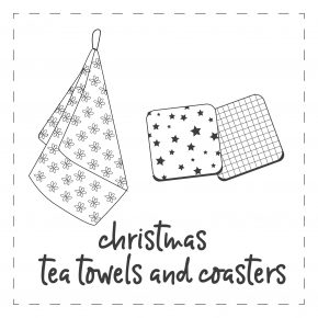 Christmas Tea Towels & Coasters